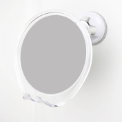 1x Magnifying No Fog Shower Mirror with Rotating Suction Cup, Built in Razor Holder. GUARANTEED to Affix to Any Surface!