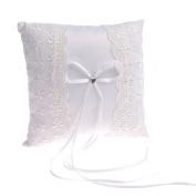 Remedios White Lace Wedding Ring Bearer Pillow