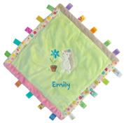 Custom Embroidered Petals Hedgehog Taggies Cosy Blanket