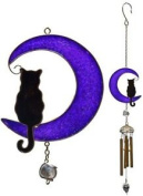 Cat-on A-moon Wind Chime